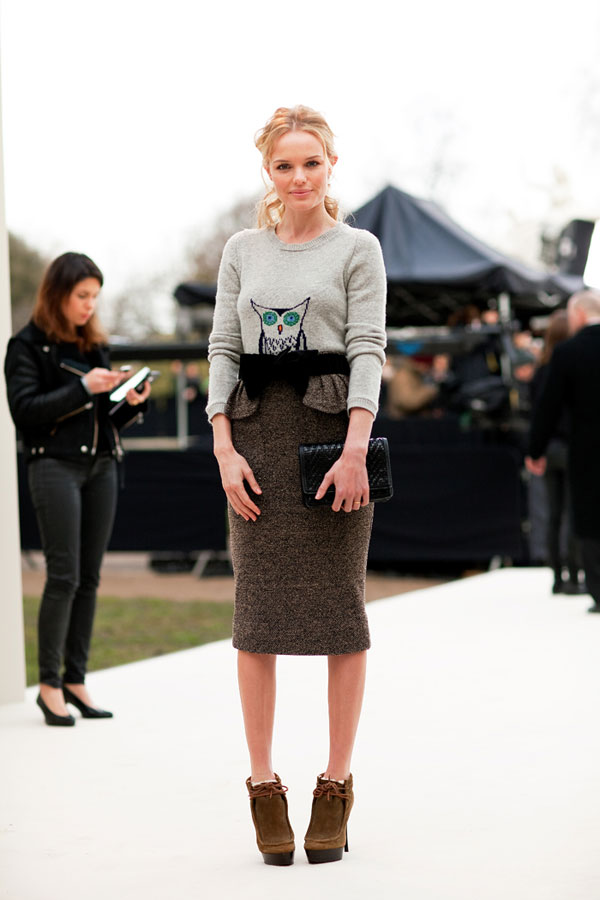 London Fashion Week Fall 2012 Street Style | the covetable Kate Bosworth Overalls