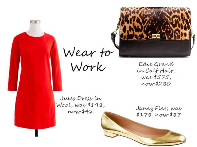 J.Crew Sale Finds Jules Dress, Janey Flats and Edie bag