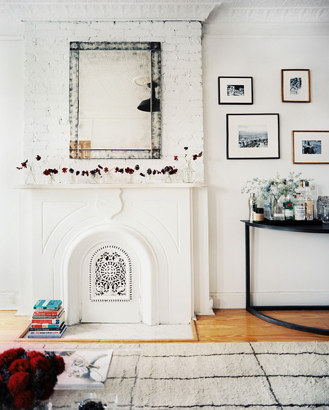 Lonny Nov Fireplace+mirror+over+white+mantel+beside+7