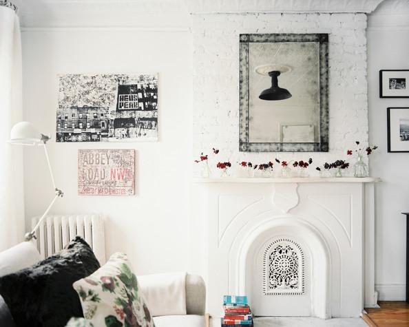 Lonny Nov Living+Room+Eclectic+mirror+above+mantel+living+2