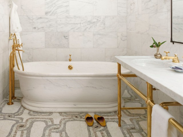 gold and marble at greenwich_hotel