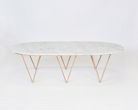 ... Gold Brass Marble Coffee Table Surf