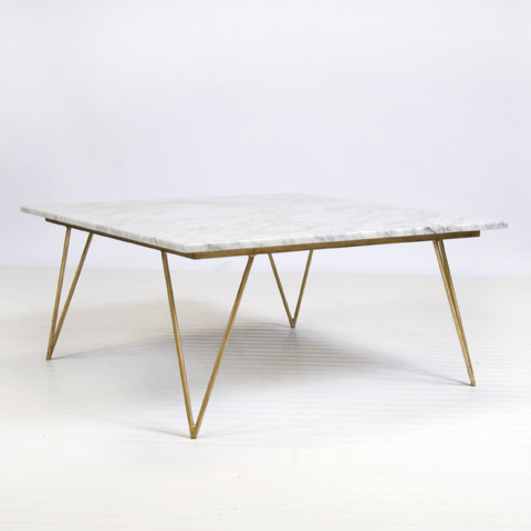Gold leaf coffee table the covetable White marble coffee table