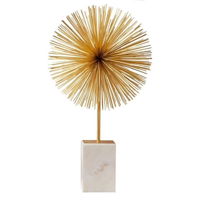 gold starburst-sea urchin statue