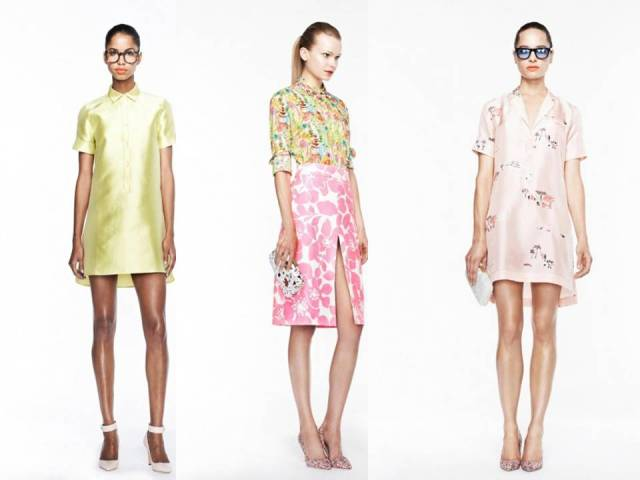 J Crew Lookbook Spring 2013 pinks and yellow