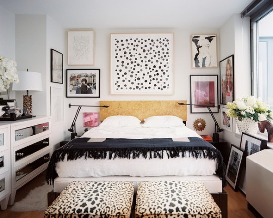 Lonny Bedroom+wall+framed+art+hung+above+burlwood