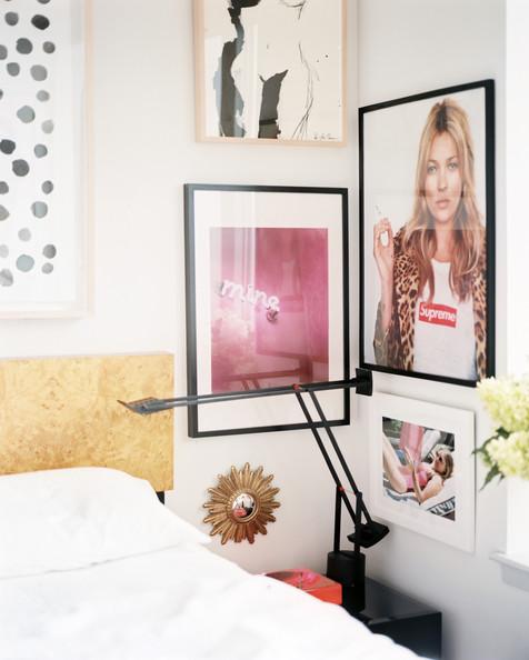 Lonny Eclectic+Decor+Framed+artworks+hung+beside