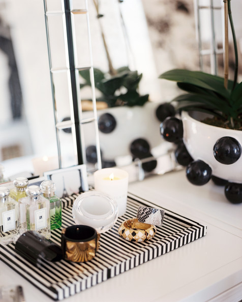 Lonny - Eclectic+Decor+Jewelry+perfume+bottles+striped