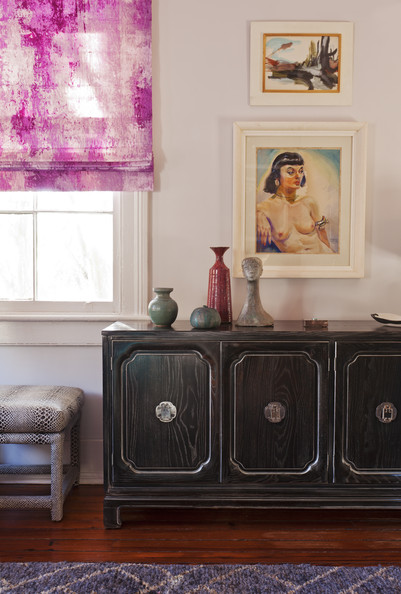 Angie Hranowsky House Tour Console and Roman Shades
