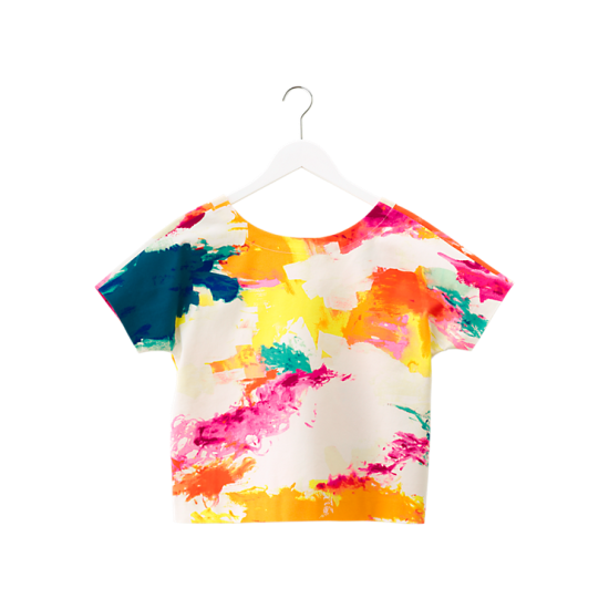 Boxy Crop Top in Abstract