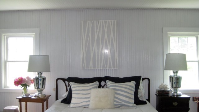 Grey Paint - Beadboard bedroom