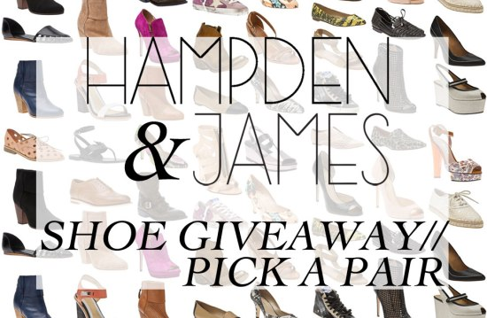 Hampden and James shoegiveaway