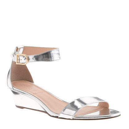 J.Cre Lillian Metallic Low Wedges $198