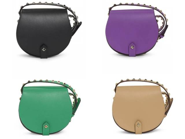 Rebecca Minkoff Skylar Cross Body Bag Purple Green Natural Black