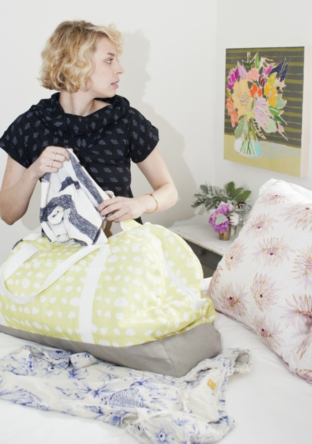 Lulie Wallace Textiles Duffle and Dahlia Pillow