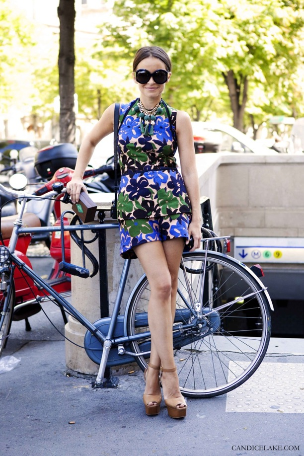 Miroslava Duma Matching Prints and Statement Necklace