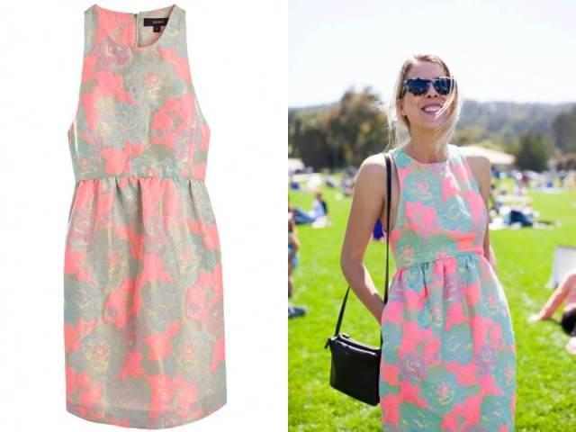 Suno High Neck Dress Acid Rose Brocade Print Sale Finds