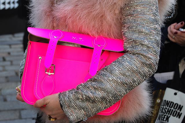 Hot Pink Metallic Tweed Fur