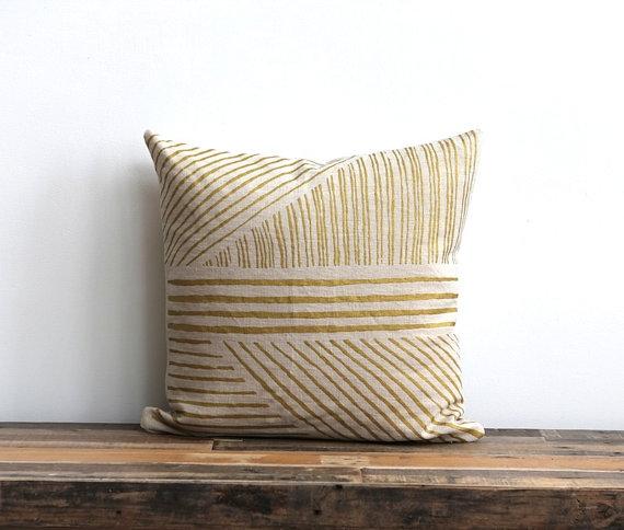 Karnataka pillow metallic natural ecru