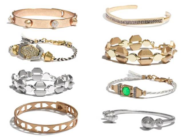 Madewell+Arm+Candy+Gold+Silver+Link+Friendship+Bracelet+Stack