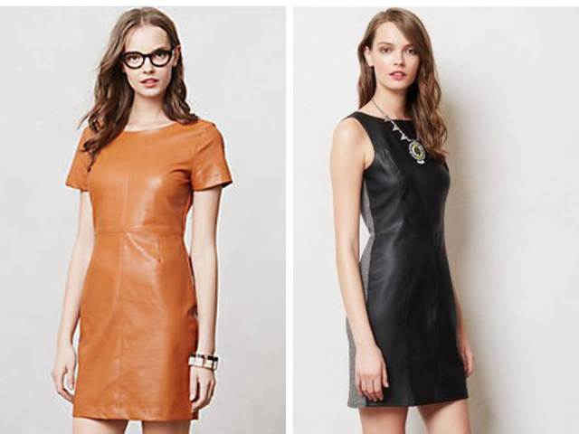 Fall 2013 Vegan Leather Shift Dress Anthropologie