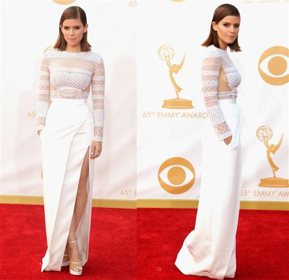 Kate-Mara-White-J. Mendel-Emmys-Red-Carpet