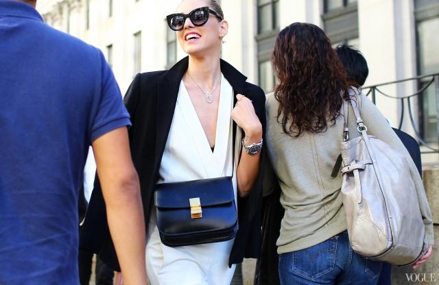 NYFW-Street-Celine Bag Spring 2014