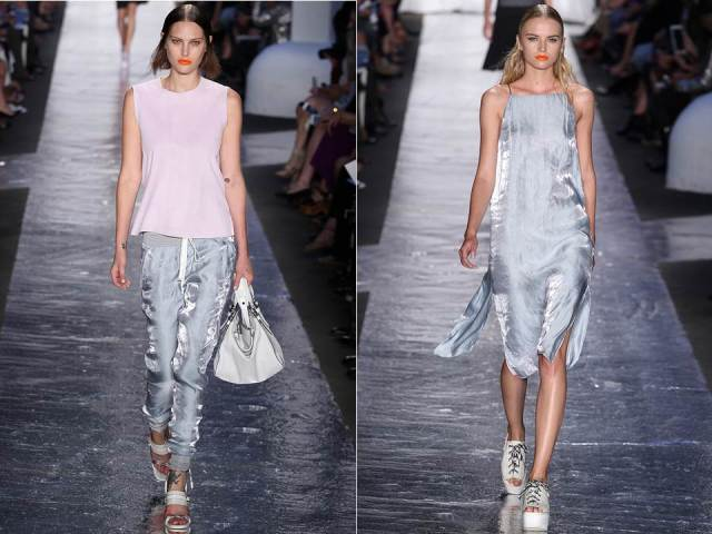 Rag&Bone SS 2014 Silver Crop Pant Dress