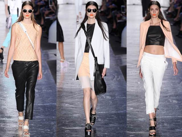 Rag&Bone SS 2014 White Black Peach Leather