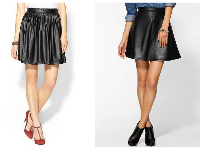 Tinley Road Vegan Leather Full Skirt