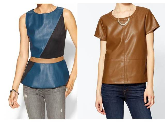 Vegan Leather tea and Peplum
