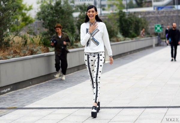 Paris FW Street Style Spring Summer 2014 Ming Xi