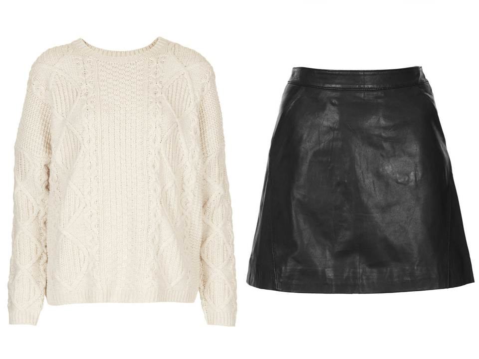 topshop leather skirt the covetable