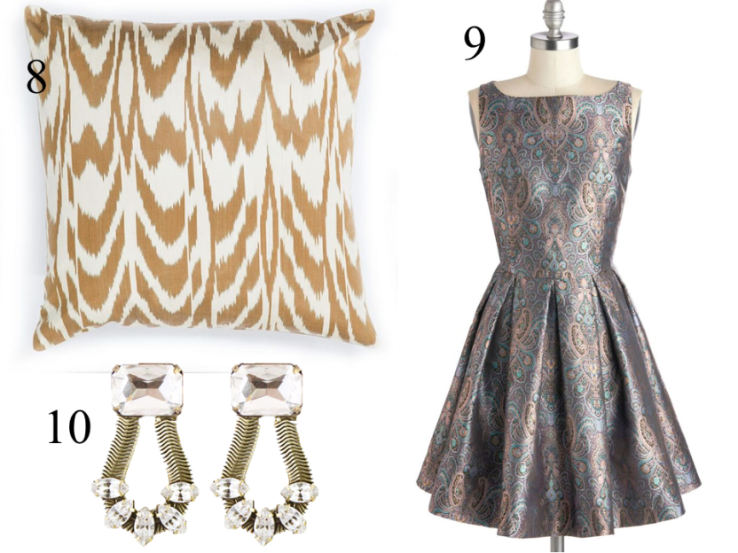 style-steals-rana-pillow-lauren-hope-earrings-bbdakota-metallic-paisley-dress