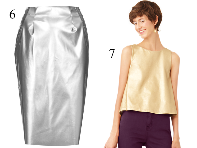 style-steals-topshop-silver-pencilskirt-kate-spade-saturday-gold-trapeze-top