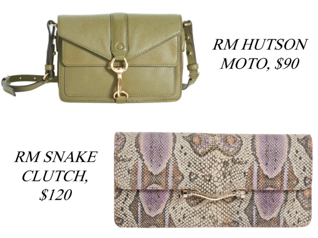 Barneys Warehouse Sale Rebecca Minkoff Moto Crossbody Snake Clutch