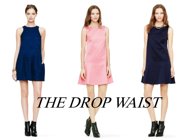 Club Monaco sale finds drop waist party dress bubblegum pink navy