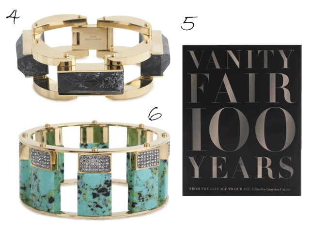 Gift Guide 2013 Lele Sadoughi Bangles Vanity Fair 100 Years