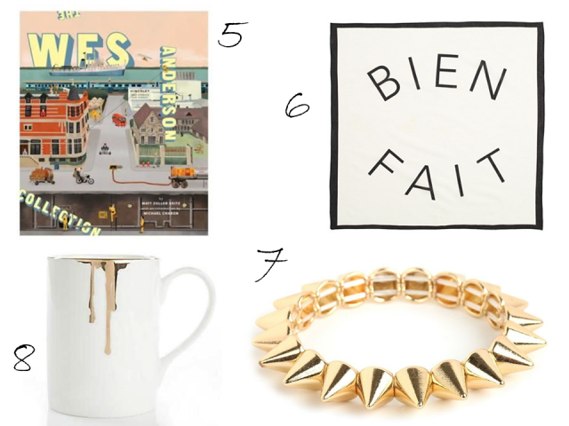 Gift Guide Under $50 Bien Fait Bandana Wes Anderson Book Spike Bangle Drip Tease Mug
