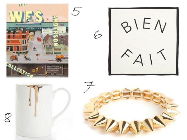 Gift Guide Under $50 Bien Fait Bandana Wes Anderson Book Spike Bangle Drip Tease Mug