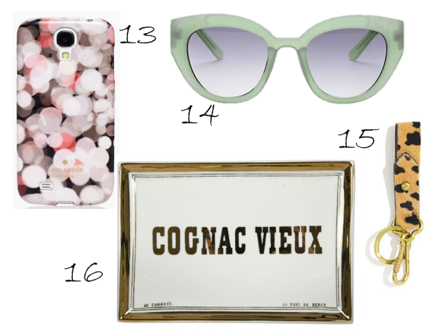 Gift Guide Under $50 Kate Spade Samsung Case Cateye Sunglasses Leopard Key Fob Cognac Vieux Tray