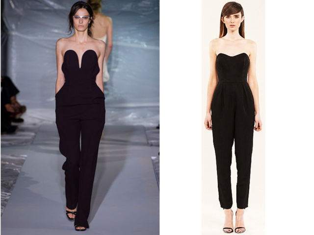 Mason Martin Margiela Spring 2013 Strapless Jumpsuit Keepsake Finders Keepers Milly Jumpsuit