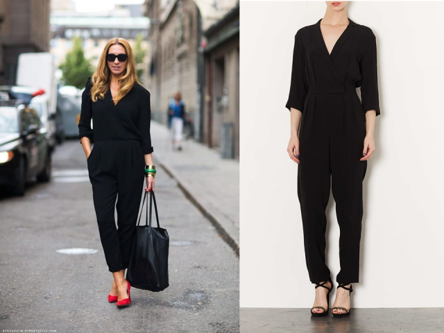 Wrap Jumpsuit Stockholm Streetstyle Topshop Black NYE Style