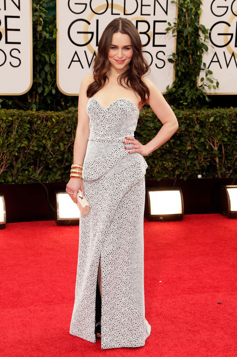 emilia clarke proenza schouler-golden globes red carpet best dressed 2014