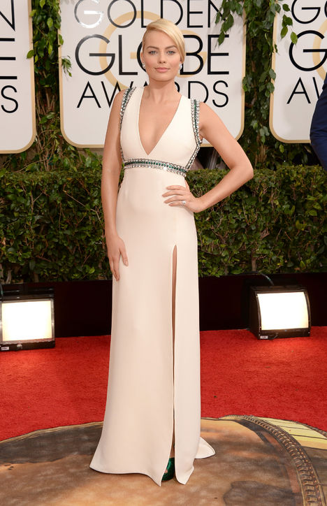 margot robbie gucci golden globes red carpet best dressed 2014