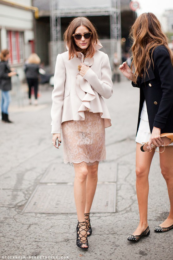olivia palermo blush monochrome street style