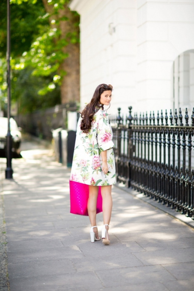 peony lim floral tunic dress manolo sandals