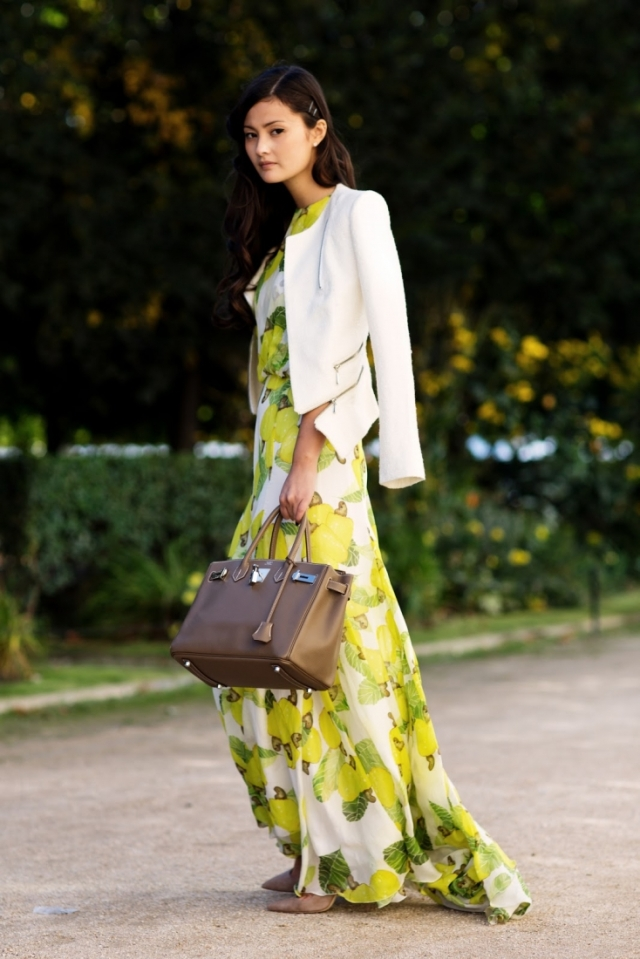 peony lim paris fashion week floral maxi