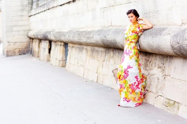 peony lim paris fashion week ss 2014 floral maxi