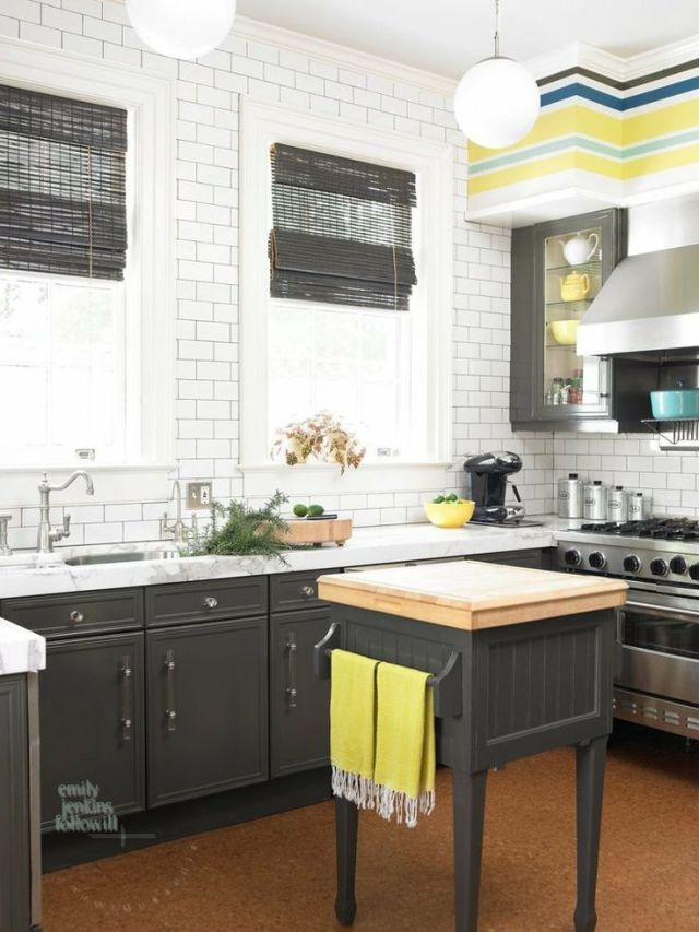 Cinda and Mark Atlanta Home Tour Kitchen Subway Tile Globe Pendants Viking Stove